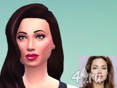 Скин Анджелины Джоли (Angelina Jolie) для игры Sims 4