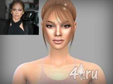 Скин певицы Дженнифер Лопес (Jennifer Lopez) для игры Симс 4