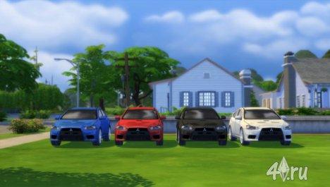 Машина Mitsubishi Lancer Evo X для Симс 4 в формате package
