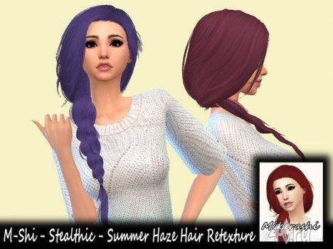 Женская прическа с длинной косой от Mikerashi для Симс 4 в формате package