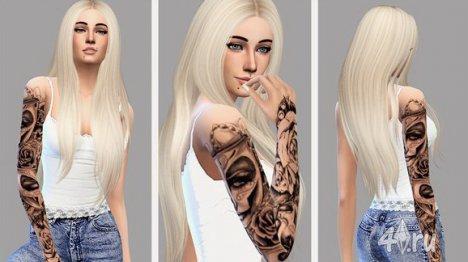 Реалистичная татуировка для девушек на руку для Симс 4 в формате package