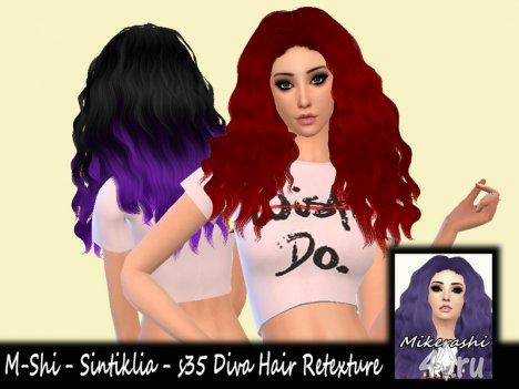 Распущенные длинные волосы от M-shi для Симс 4 в формате package