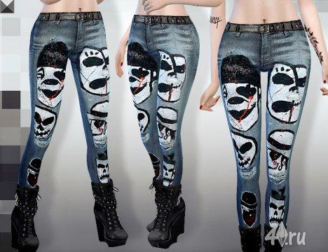 Осенние джинсы для Симс 4 от MissFortune в формате package