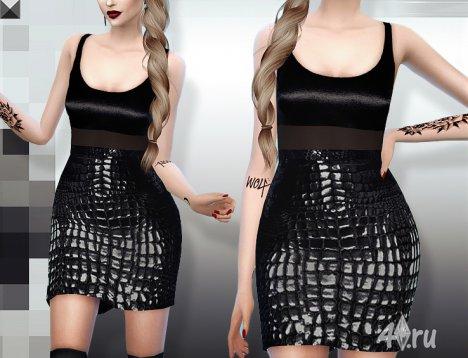Стильное платье на выход от MissFortune для Симс 4 в формате package
