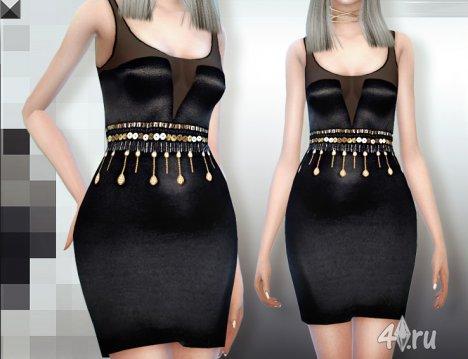 Платье от MissFortune для Симс 4 в формате package