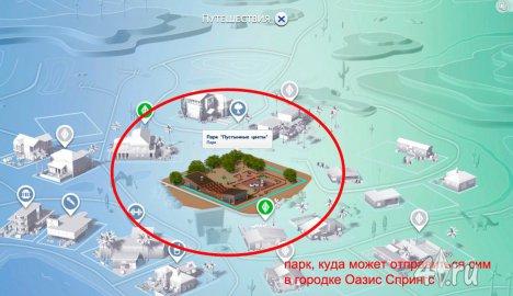 Поездки в другие города в игре Симс 4