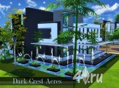 Дом Крест Эйкерс от johnDu для Симс 4 в формате package