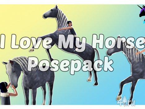 Новый набор поз для детей и лошадей (Симс 3) от Eenhoorntje в формате packa ...