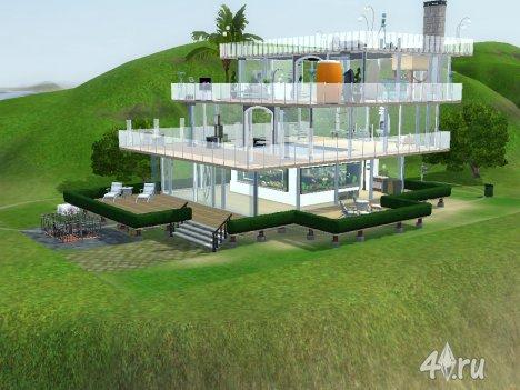 """Прозрачный дом """"Каскад"""" от Alexeeva_Sim для Симс 3 в формате sims3pack"""