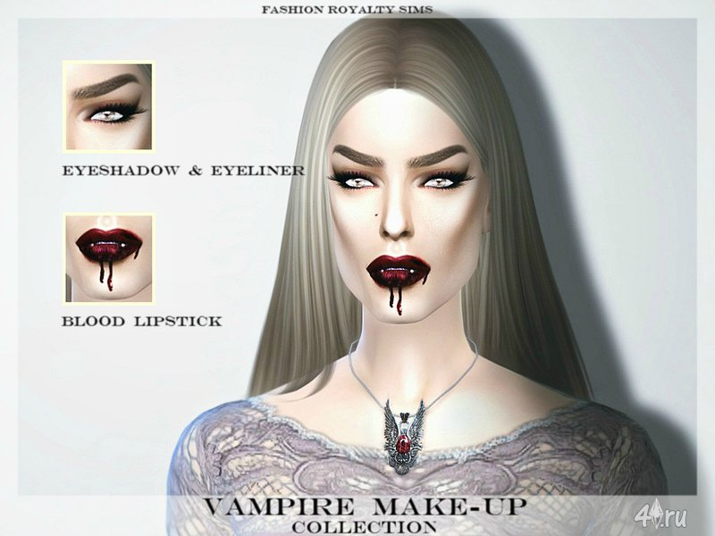 Sims 4, the vampire lips 6 colors