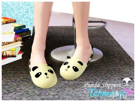 Тапочки Панда от Tehmango для Симс 3 в формате sims3pack