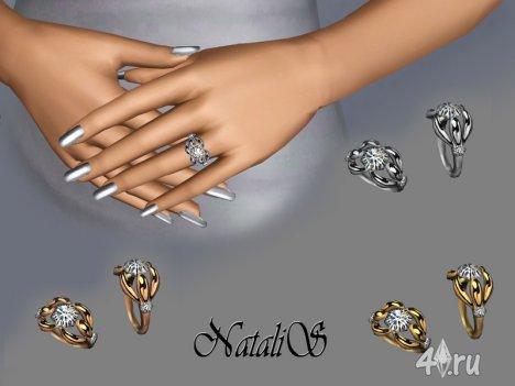Бриллиантовое обручальное кольцо от NataliS для Симс 3 в формате sims3pack