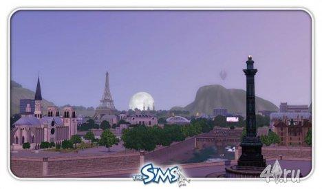 Французский город Париж для Симс 3 в формате sims3pack
