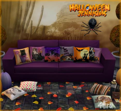Подушки для Хэллоуина (11 штук) от JeniSims для Симс 4