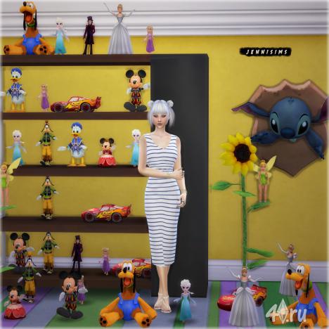 Набор игрушек № 5 Disney (12 штук) от JeniSims для Симс 4