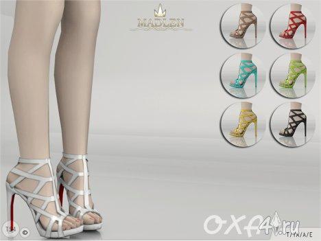 """Босоножки """"Oxa"""" от Madlen для Симс 4"""