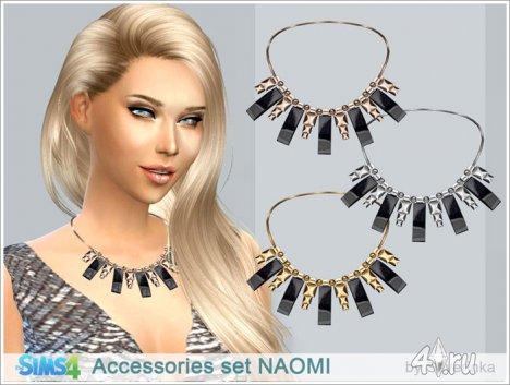 """Женские ожерелье и браслет """"Наоми"""" от Severinka для The Sims 4"""