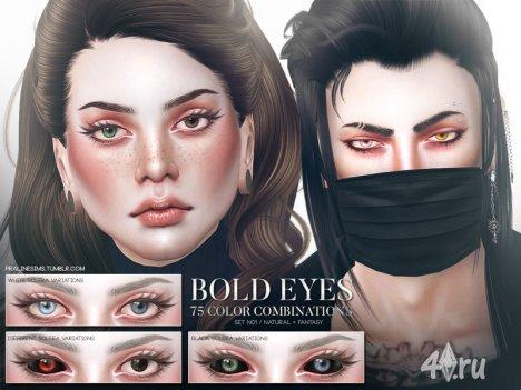 Разные глаза (гетерохромия) от Pralinesims для Симс 4