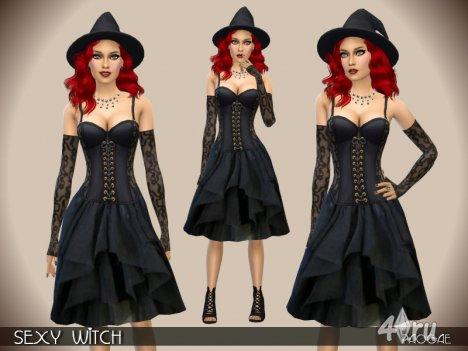 Костюм ведьмы от Paogae для The Sims 4