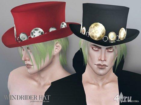 "Шляпа ""Windrider"" от Pralinesims для The Sims 4"