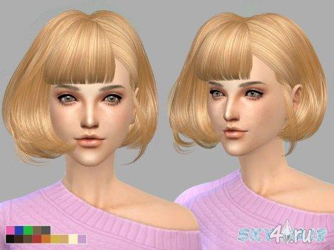 Короткая женская прическа от Skysims для The Sims 4