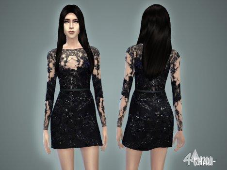 """Платье """"Кали"""" от -April- для The Sims 4"""