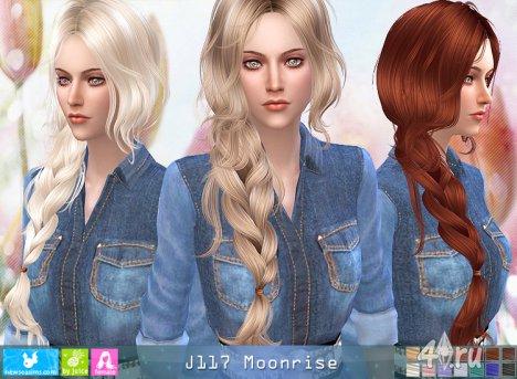 """Женская прическа """"Восход луны"""" от NewSea для The Sims 4"""