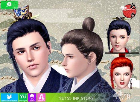 """Прическа для мужчин и женщин """"Чернильный камень"""" от NewSea для The Sims 3 в формате sims3pack"""