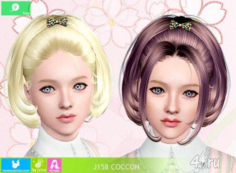 """Женская прическа для взрослых и детей """"Coccon"""" от NewSea для The Sims 3"""