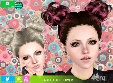 """Женская прическа для взрослых и детей """"Цветок капусты"""" от NewSea для The Sims 3 в формате sims3pack"""