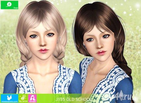 """Женская прическа для взрослых и детей """"Старая школа"""" от NewSea для The Sims 3"""
