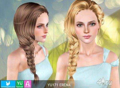"""Женская прическа для взрослых и детей """"Ирена"""" от NewSea для The Sims 3 в формате sims3pack"""