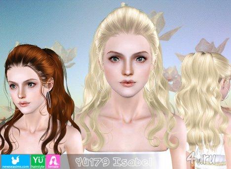 """Женская прическа """"Изабель"""" от NewSea для The Sims 3 в формате sims3pack"""