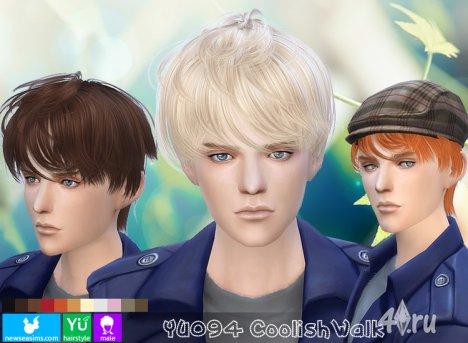 """Прическа для мужчин и женщин """"Прохладная прогулка"""" от NewSea для The Sims 4"""