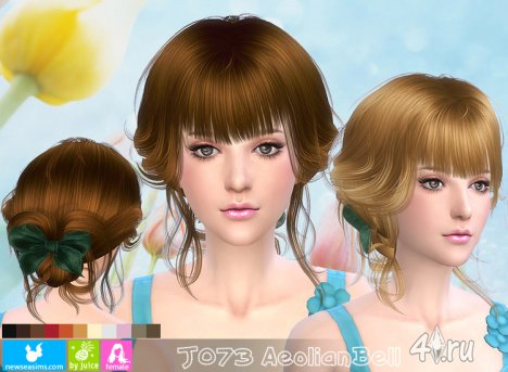 """Женская прическа """"Эолийский колокол"""" от NewSea для The Sims 4"""