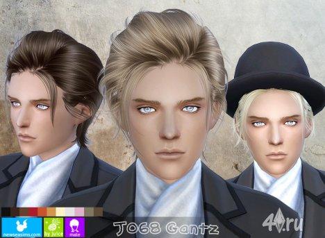 """Прическа для мужчин и женщин """"Ганц"""" от NewSea для The Sims 4"""