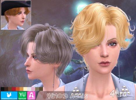 """Прическа для мужчин и женщин """"Аднис"""" от NewSea для The Sims 4"""