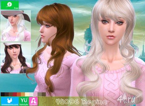 """Женская прическа """"Регина"""" от NewSea для The Sims 4"""