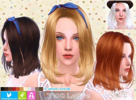 """Женская прическа """"Лафит"""" от NewSea для The Sims 4"""