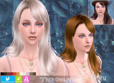 """Женская прическа """"Наводнение"""" от NewSea для The Sims 4"""