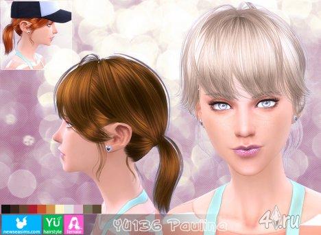 """Женская прическа """"Паулина"""" от NewSea для The Sims 4"""