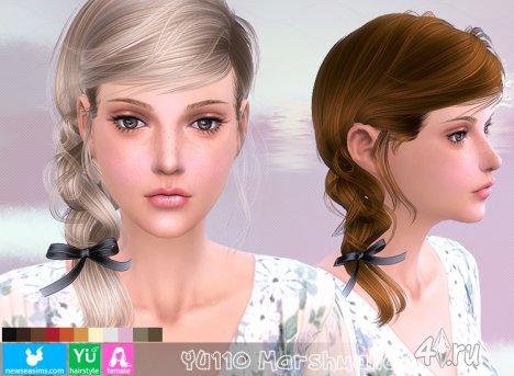 """Женская прическа """"Зефир"""" от NewSea для The Sims 4"""