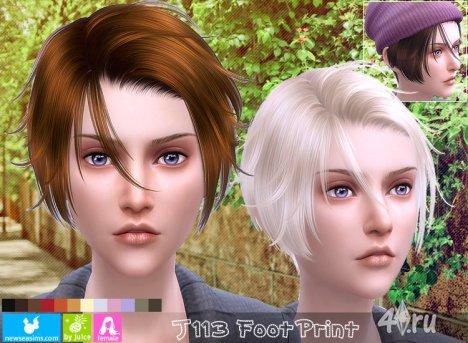 """Прическа для мужчин и женщин """"След"""" от NewSea для The Sims 4"""