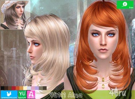 """Женская прическа """"Альма"""" от NewSea для The Sims 4"""