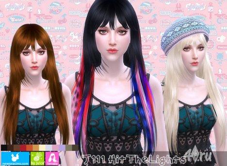 """Женская прическа """"Удар цвета"""" от NewSea для The Sims 4"""