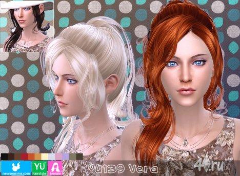 """Женская прическа """"Вера"""" от NewSea для The Sims 4"""