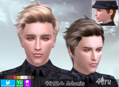 "Прическа для мужчин и женщин ""Адонис"" от NewSea для The Sims 4"