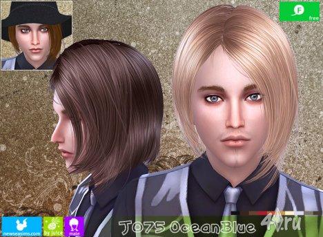 """Прическа для мужчин и женщин """"Синий океан"""" от NewSea для The Sims 4"""