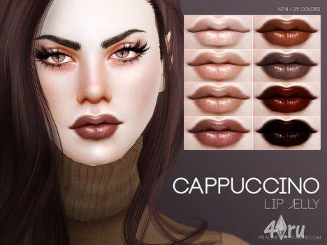 """Помада """"Капучино"""" от Pralinesims для The Sims 4"""