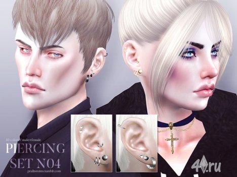 Пирсинг от Pralinesims для The Sims 4